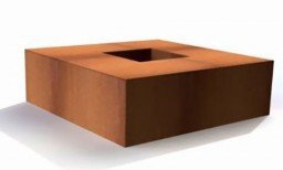 FORNO fire table corten steel square 140