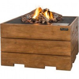 Happy Cocooning Teak Wood Fire Table Square Firepitonlinecom - Teak fire pit table