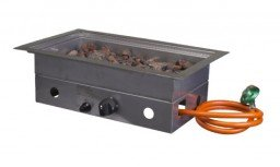 Cosi fires built-in burner rectangular