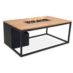 Cosi fires Cosiloft 120 firepit table black/teak