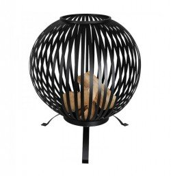 Esschert fire ball laser cut stripes black