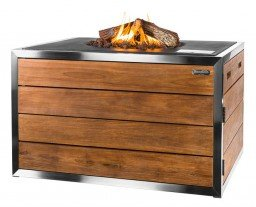 Happy Cocooning fire table rectangle Black Lounge & Dining Stainless steel