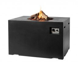 Happy Cocooning firepit rectangular Lounge & Dining black