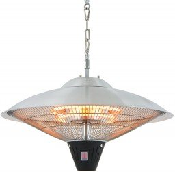 Sunred Sirius Silver hanging patio heater