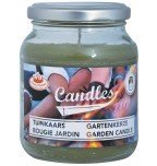 Esschert garden candle olive green in jar