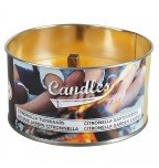 Esschert garden citronella candle in tin L