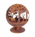 Esschert fire ball laser cut trees and deer rust