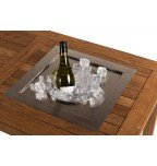 Built-in wine cooler square for garden table