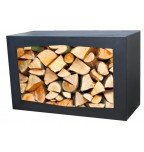 GardenMaxx Woodbox for wood storage (black)
