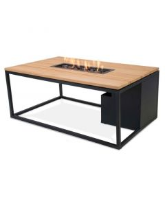 Cosi Fires Cosiloft 120 fire pit table Black/Teak