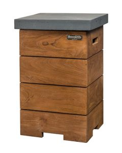 Cocoon Table teak wood side table for anthracite