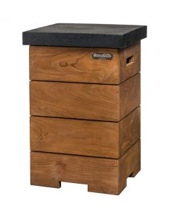 Side table for Cocoon Table teak wood black