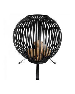 Esschert fire ball laser cut stripes black