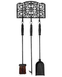 Esschert Design 3-piece Fireplace tool set