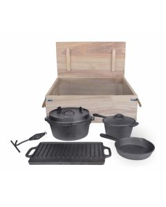 Esschert campfire cooking set 7-piece