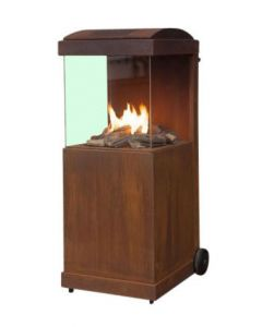 Faber The Buzz gas fireplace cortensteel