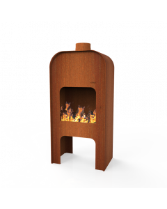 FORNO Fireplace Gap CortenSteel