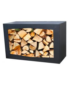 Gardenmaxx Black Woodbox for wood storage