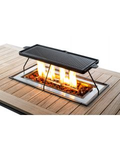 Happy Cocooning griddle grate built-in burner Rectangle