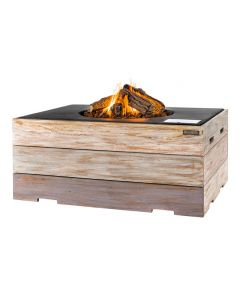 Happy Cocooning fire table rectangle black