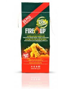 Fire-up coiled wood wool firelighters 25 pieces