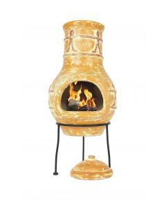 La Hacienda garden fireplace Companero