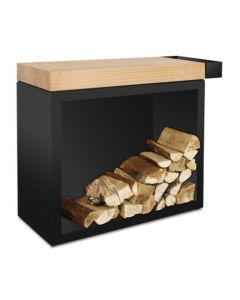 OFYR Butcher Block Storage Black 90