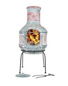 La Hacienda Patio fireplace Geometric