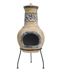 Patio fireplace La Hacienda Soledad